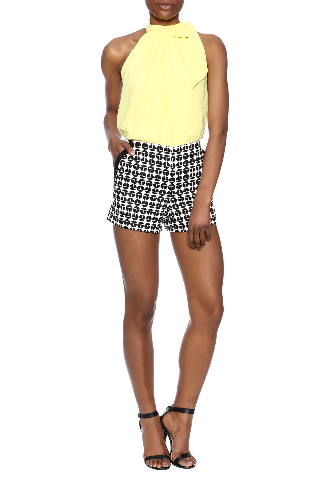 Trina Turk Link Shorts - Front Full Image