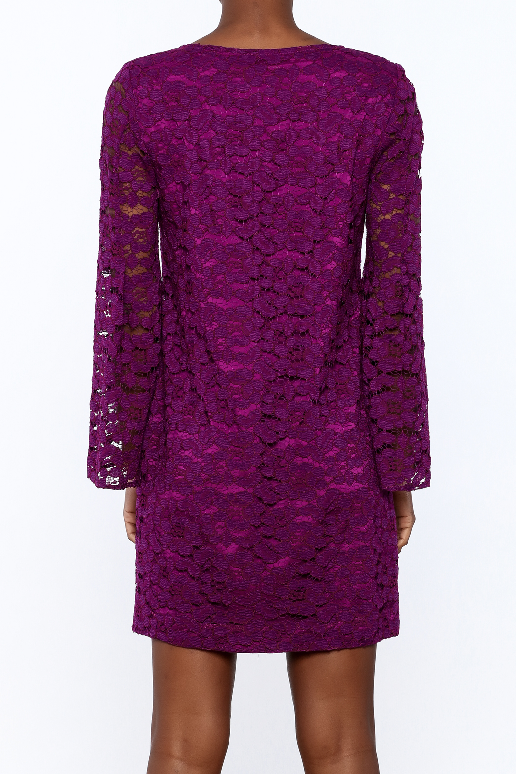 Trina Turk Purple Revue Dress - Back Cropped Image