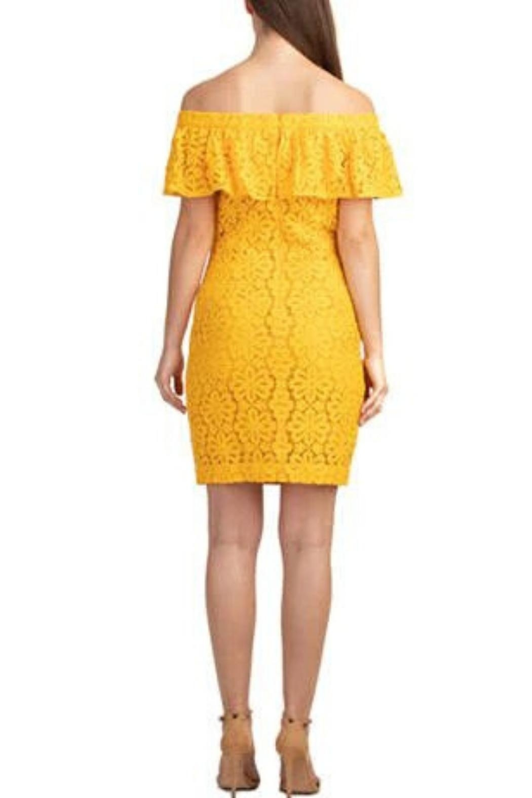 Trina by Trina Turk Floral Off-The-Shoulder Dress - Front Full Image
