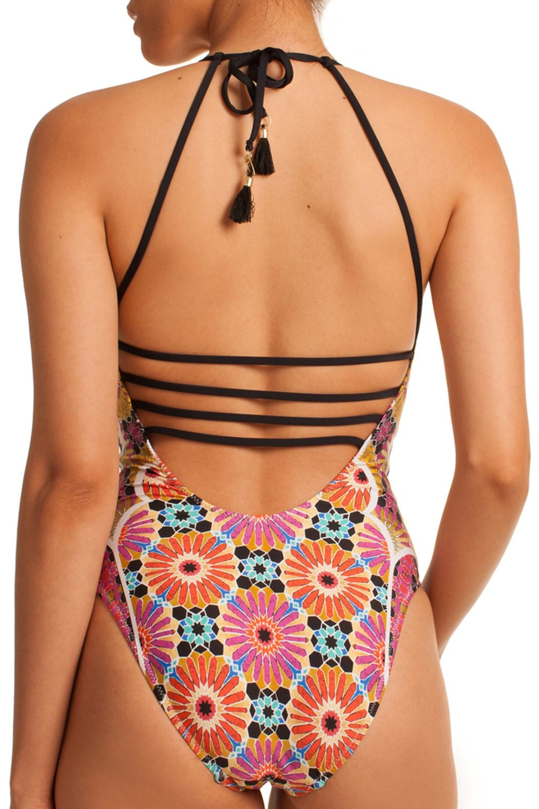 Trina Turk Strappy One Piece - Front Full Image
