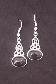 Crystal Earth Trinity Amethyst Earrings - Alternate List Image