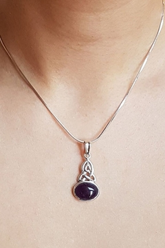 Crystal Earth Trinity Amethyst Pendant - Alternate List Image