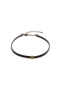 Shoptiques Product: Leather Antiquated Cross Choker