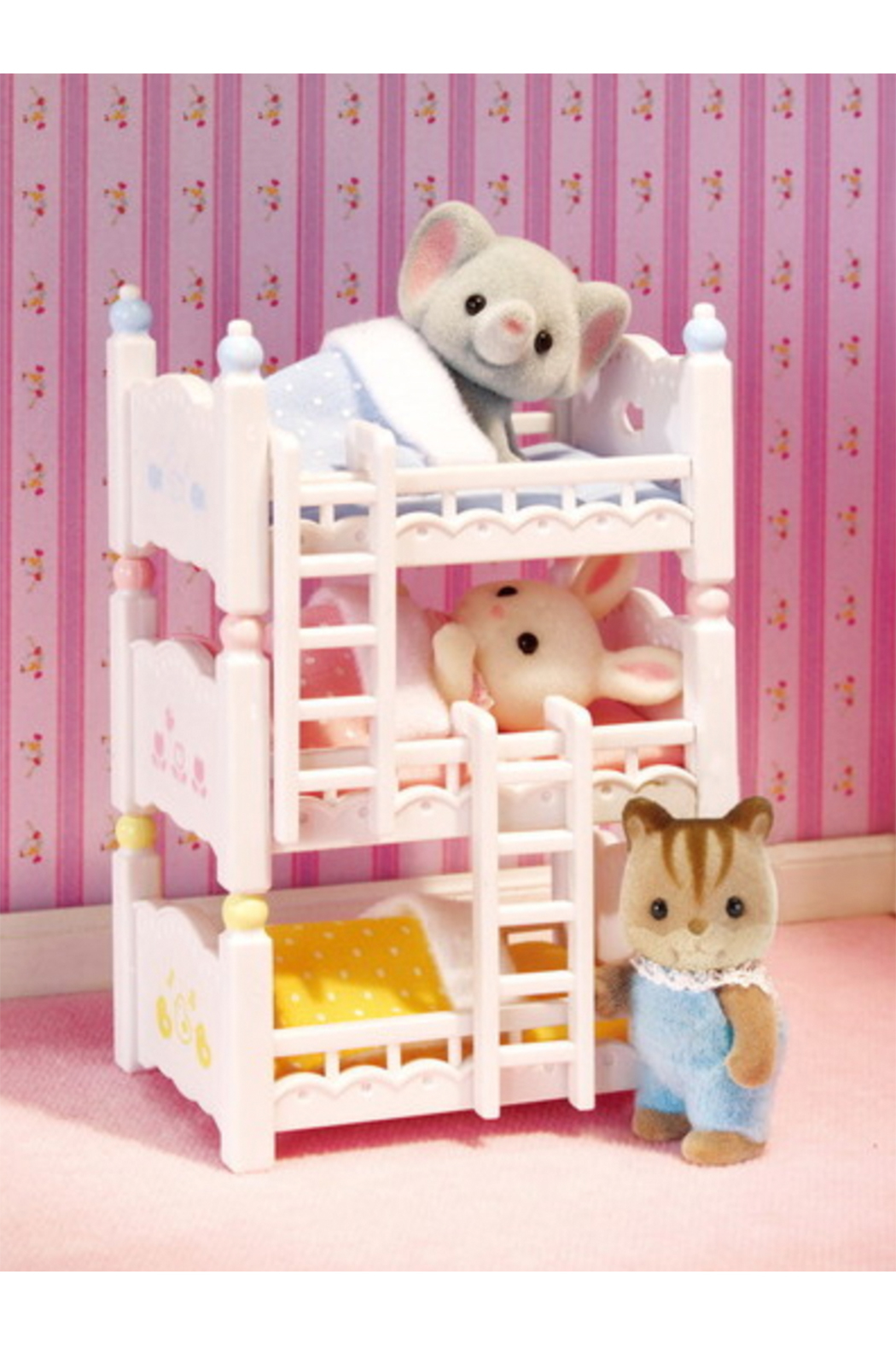 Calico Critters Triple Baby Bunk Beds - Front Full Image