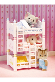 Calico Critters Triple Baby Bunk Beds - Front full body
