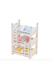 Calico Critters Triple Baby Bunk Beds - Front cropped