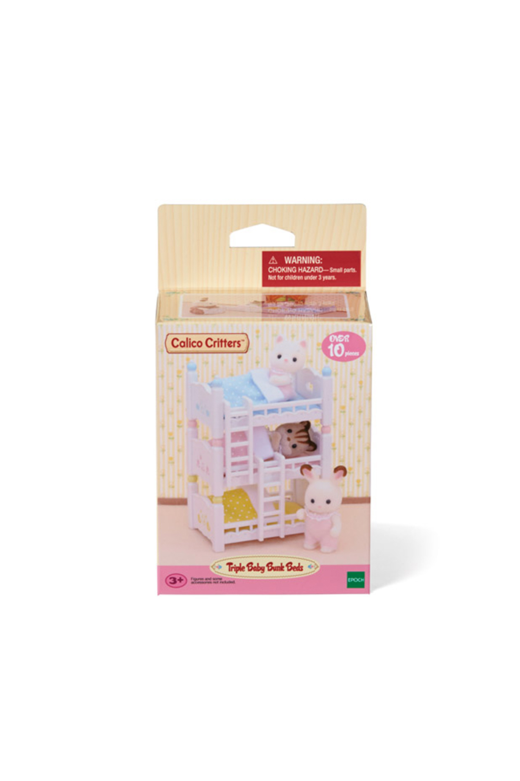 Calico Critters Triple Baby Bunk Beds - Back Cropped Image