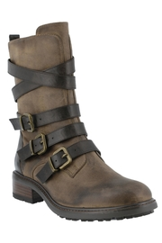 Spring Footwear Triple Buckle Bootie - Front cropped