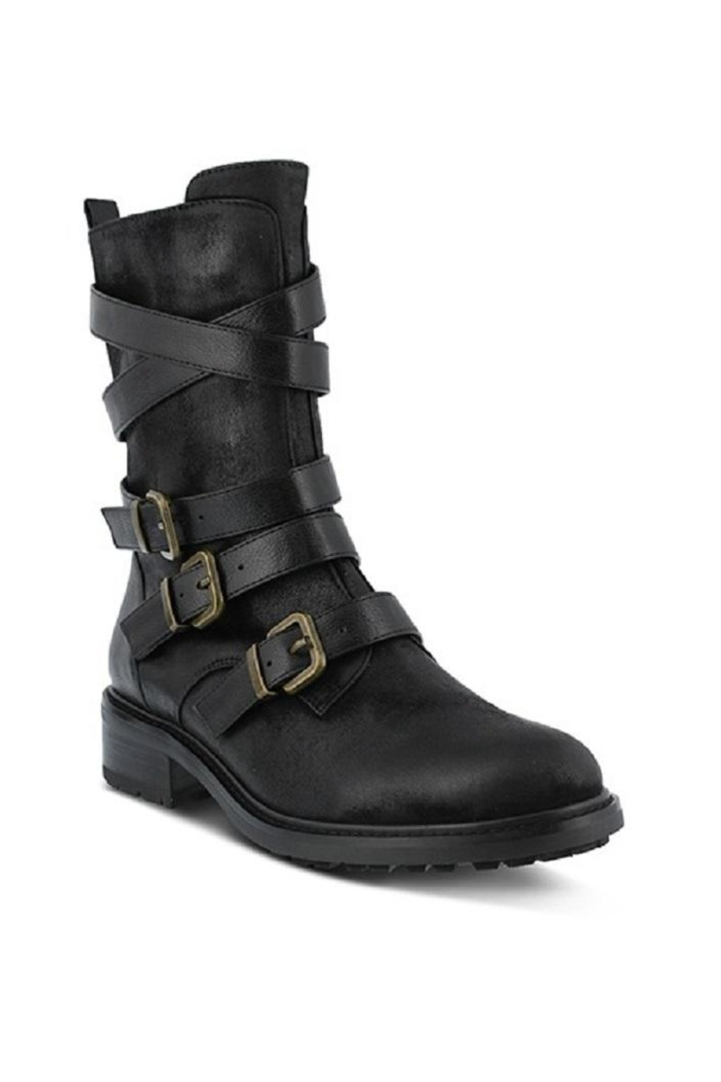 Spring Footwear Triple Buckle Bootie - Main Image