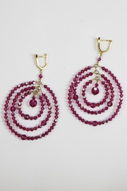 Dominique Triple Circle Earrings - Front cropped