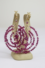 Dominique Triple Circle Earrings - Front full body