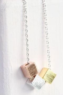 Pink Poodle Boutique Triple Cube Necklace - Alternate List Image