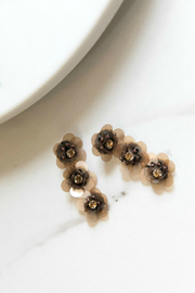 Rush Triple Flower Earring - Product Mini Image