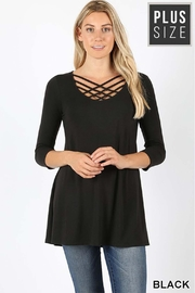 Zenana Outfitters Triple Lattice Top - Product Mini Image