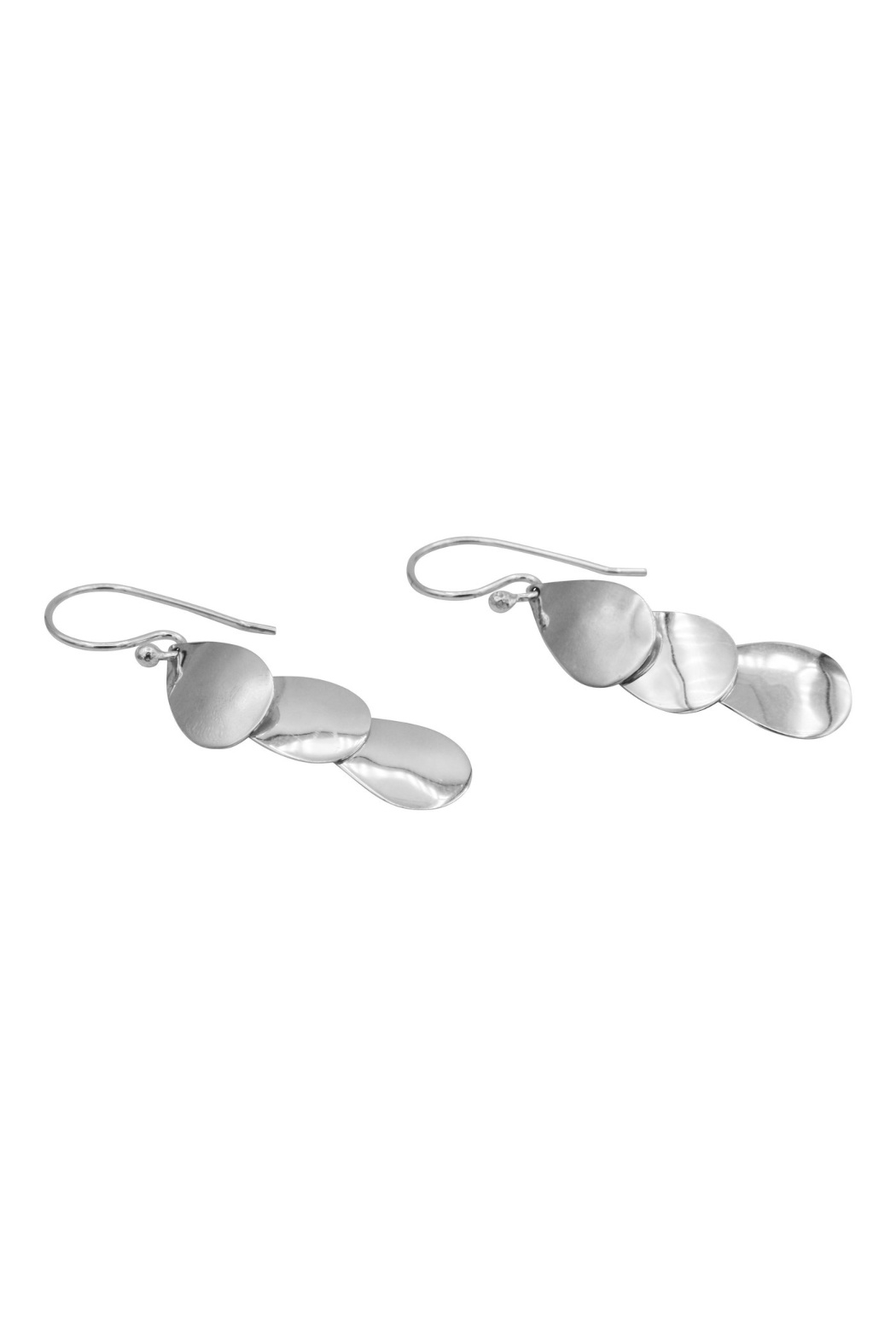 Accara Triple Oval Drop Earrings - Front Full Image