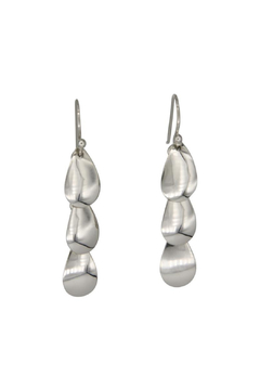 Accara Silver Triple Oval Drop Earrings - Product List Image
