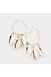 Lets Accessorize Triple Puka Hoops - Front cropped
