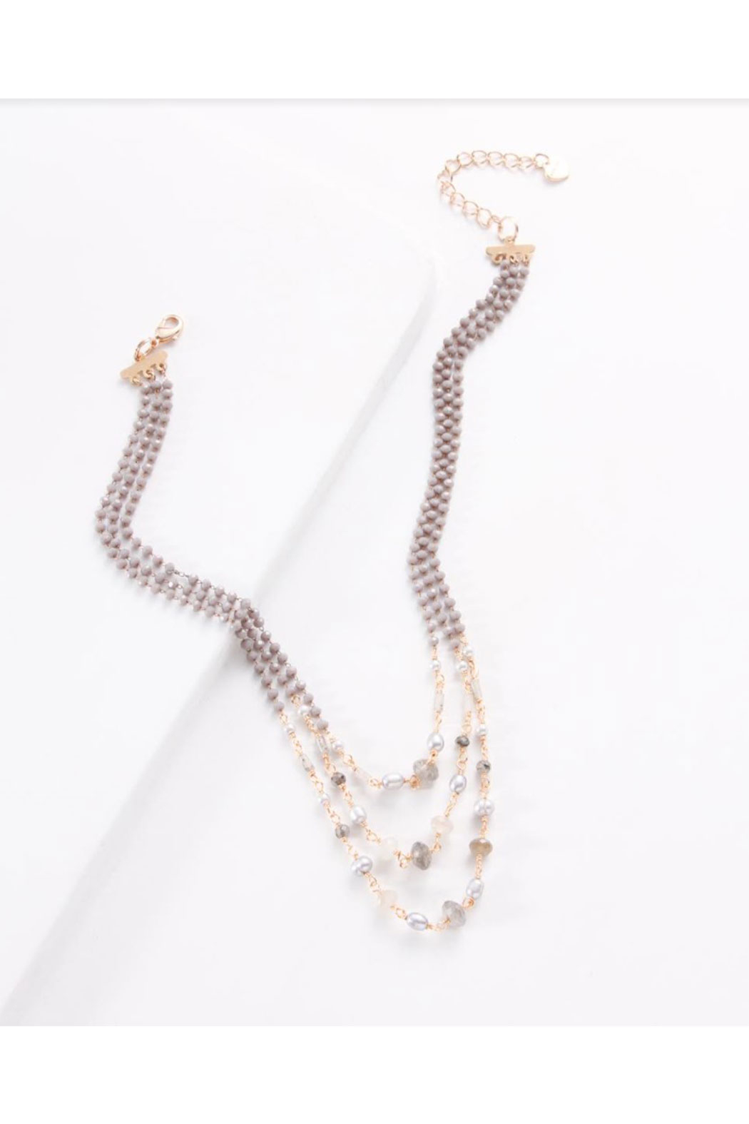 Maison A Triple Strand Necklace w/ Pearls - Main Image
