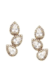 US Jewelry House Triple Teardrop Earrings - Front cropped