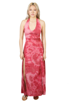 Lakhay's Collection Triple Tie Knit Maxi Dress (Strawberry) - Product List Image