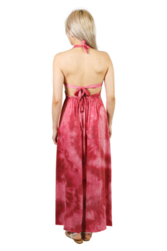 Lakhay's Collection Triple Tie Knit Maxi Dress (Strawberry) - Alternate List Image