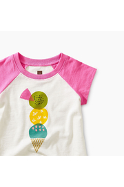Tea Collection Triple Treat Baby Graphic Tee - Front full body