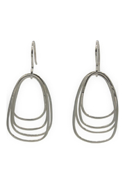 Accara Silver Triple Wire Drop Earrings - Product Mini Image