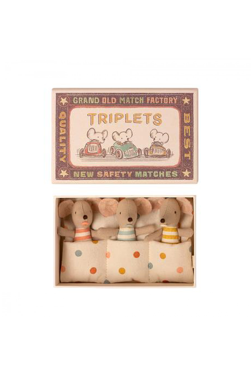 Maileg Triplets, Baby Mice In Box - Main Image