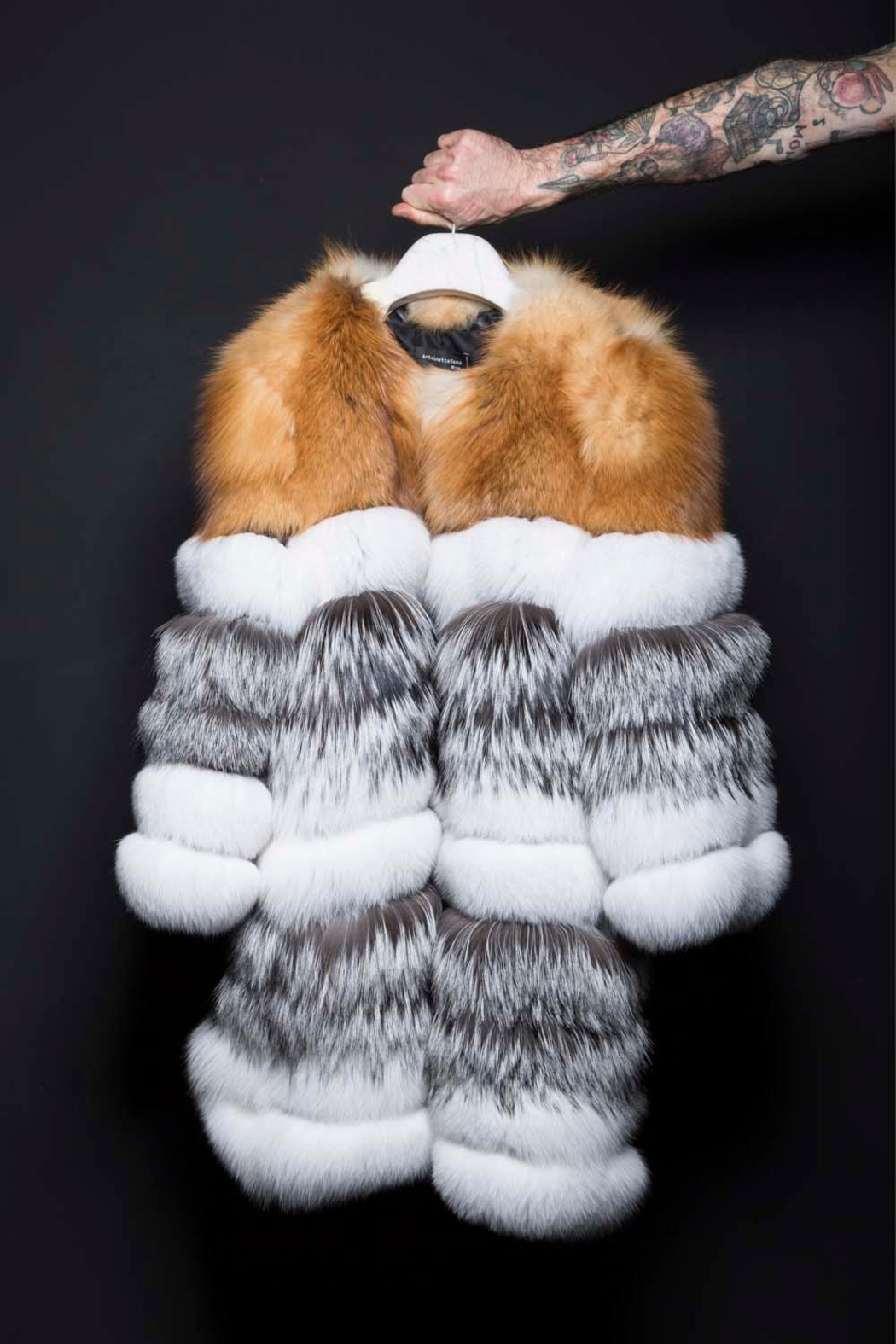 AntoinetteDema Tris Fox Coat - Front Cropped Image