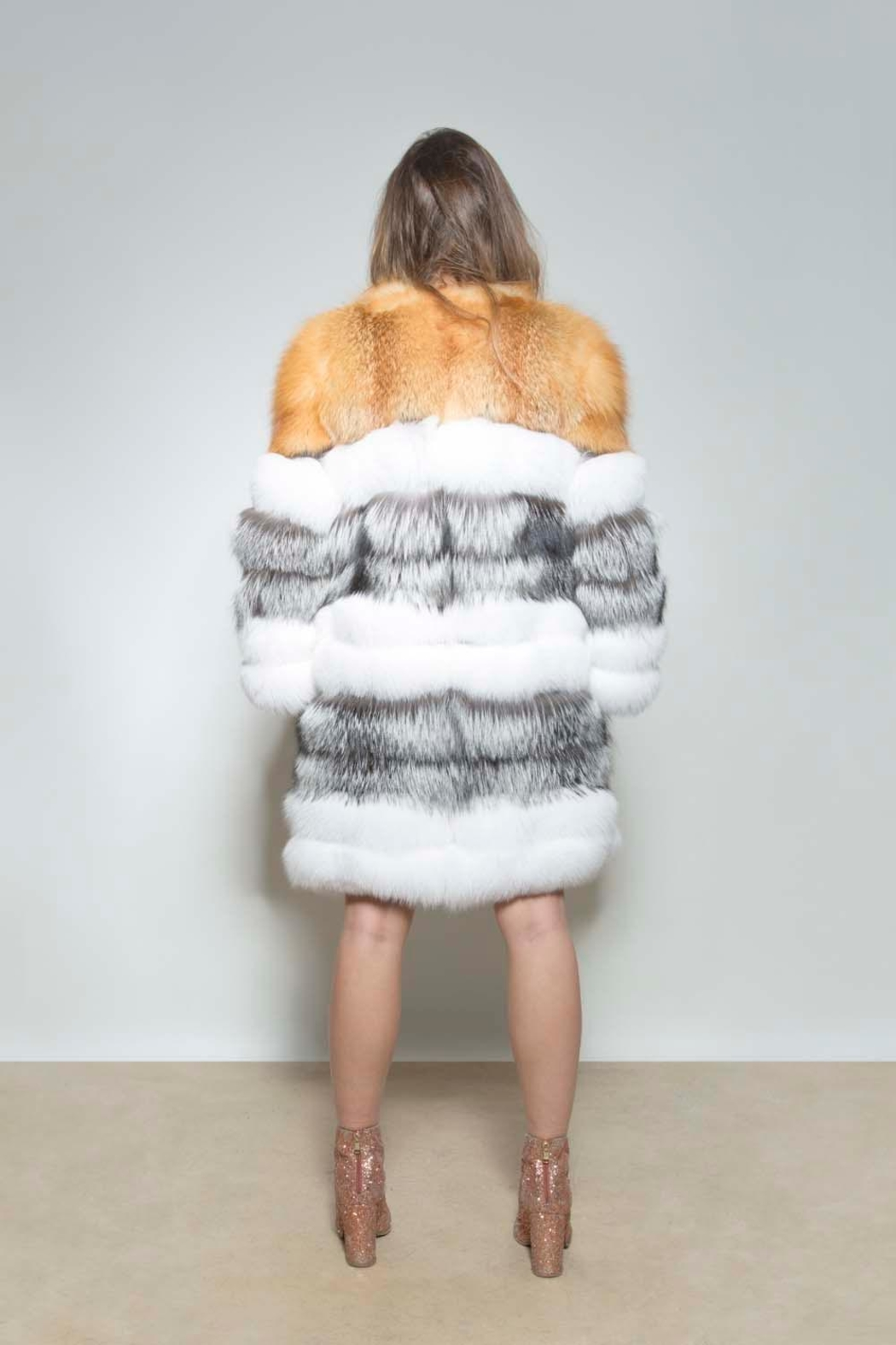 AntoinetteDema Tris Fox Coat - Side Cropped Image