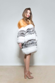 AntoinetteDema Tris Fox Coat - Back cropped
