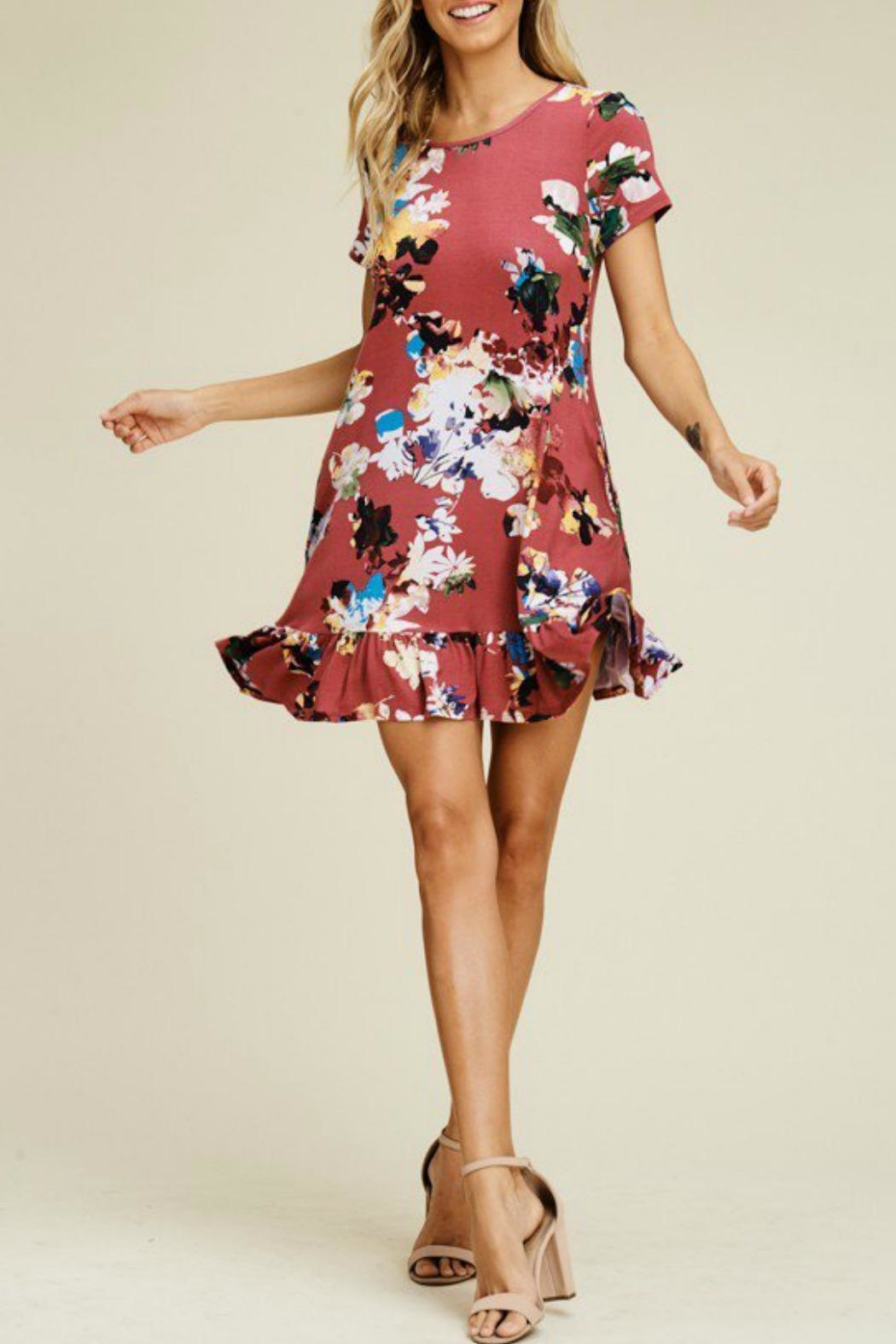 Izzie's Boutique Trish Berry Dress - Side Cropped Image