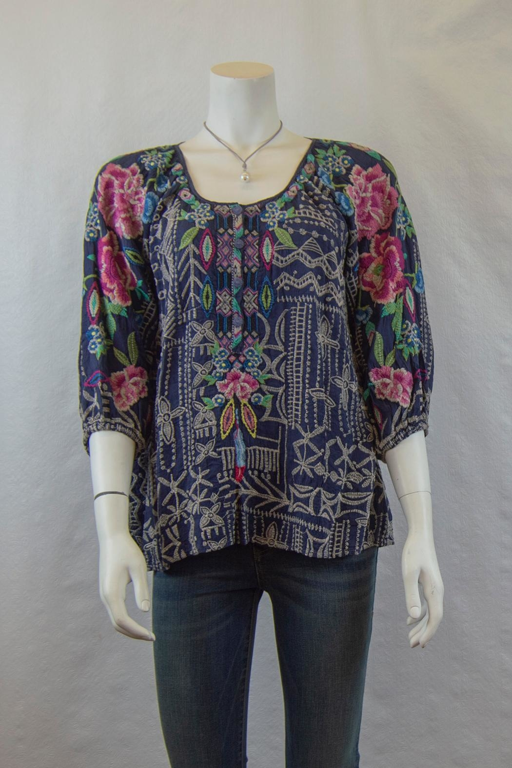 Johnny Was Collection Trista Blouse - Main Image