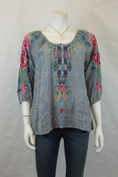 Johnny Was Collection Trista Blouse - Product List Image