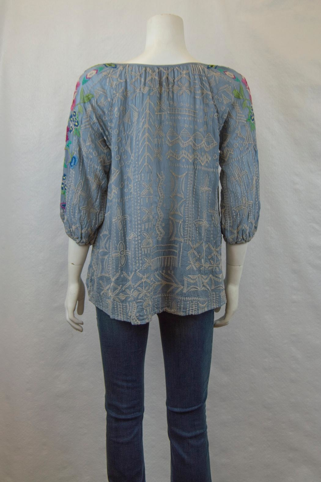 Johnny Was Collection Trista Blouse - Side Cropped Image