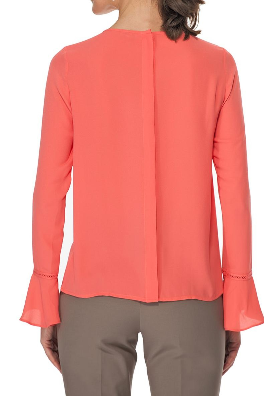 TRISTAN Coral Embroidery Blouse - Front Full Image