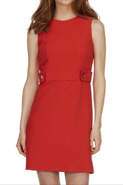 TRISTAN Red Sleeveless Dress - Product Mini Image