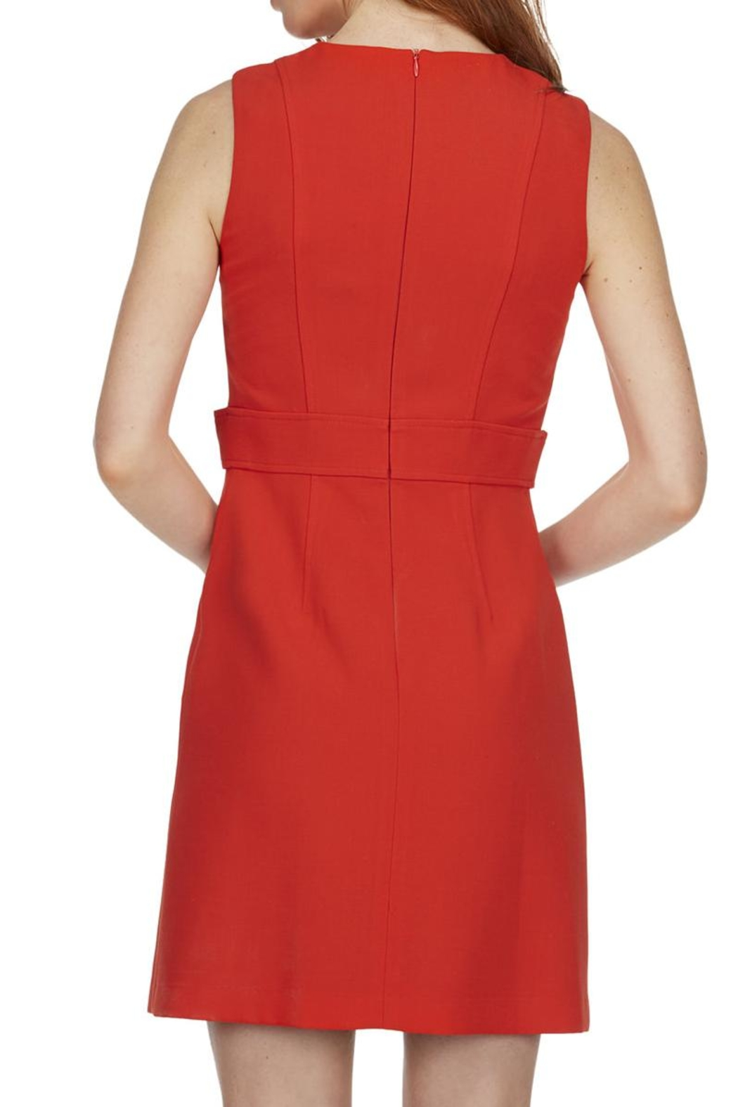 TRISTAN Red Sleeveless Dress - Back Cropped Image