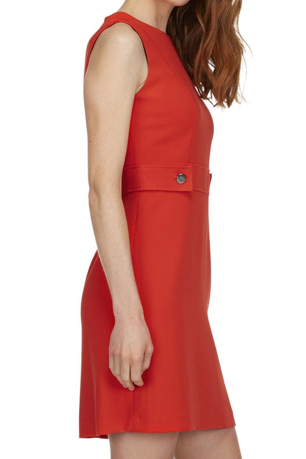 TRISTAN Red Sleeveless Dress - Side Cropped Image