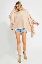 Gentle Fawn Tristan Soft Knit Fringe Poncho - Product Mini Image