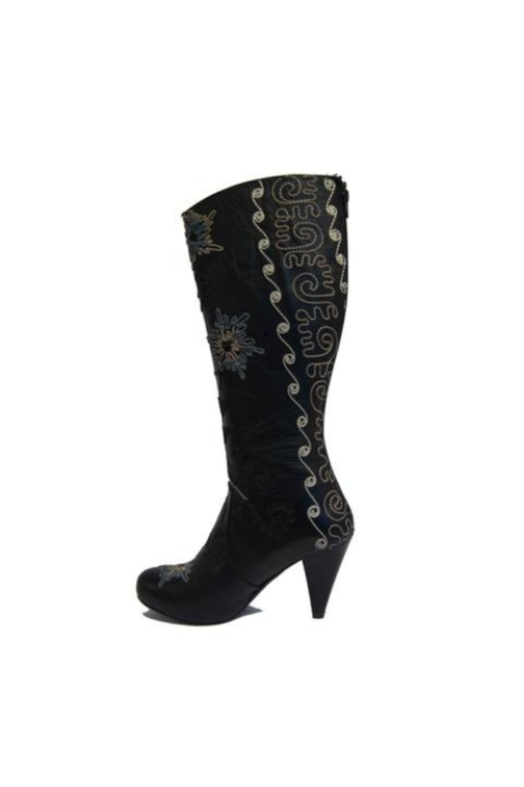 Artemis Collections Inc Trixi Tall Embroidered Leather 1 - Front Full Image