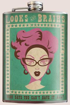Shoptiques Product: Looks & Brains Flask