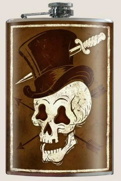 Trixie & Milo Skull Hat Flask - Product List Image