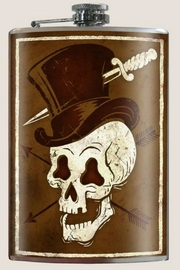 Trixie & Milo Skull Hat Flask - Product Mini Image