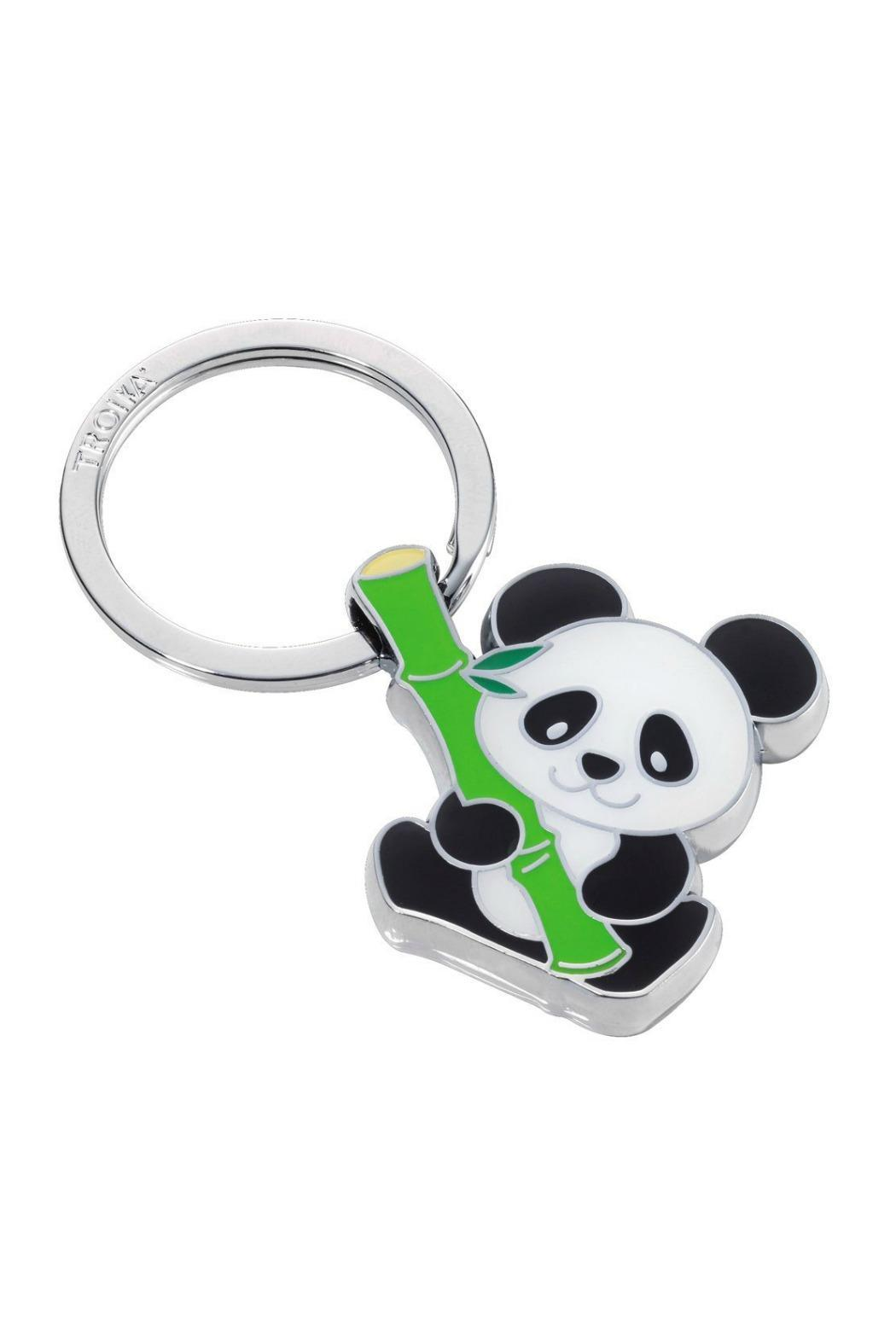 Troika Panda Bamboo Keychain - Front Cropped Image