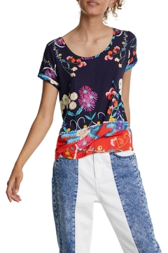 DESIGUAL Tropic India T Shirt - Product List Image