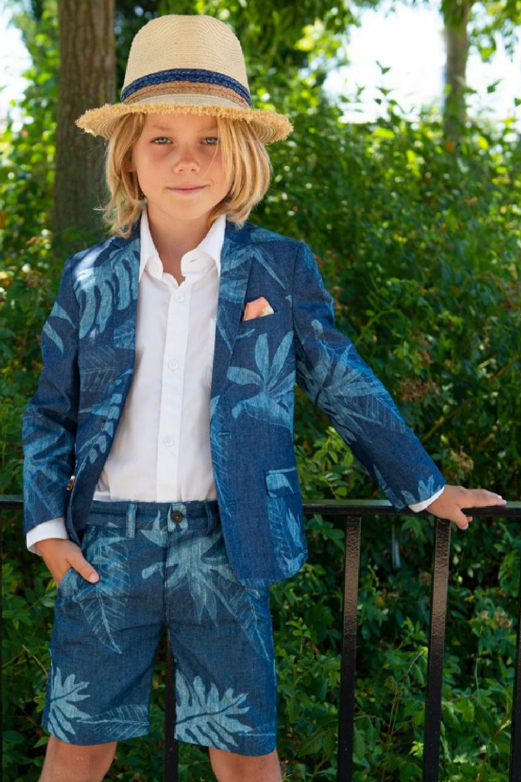 Appaman Tropic Palm Sports Jacket - Side Cropped Image