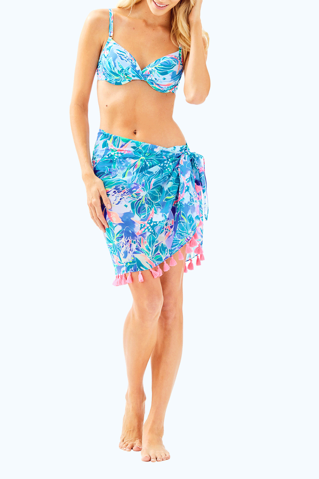 Lilly Pulitzer Tropic Sarong - Side Cropped Image