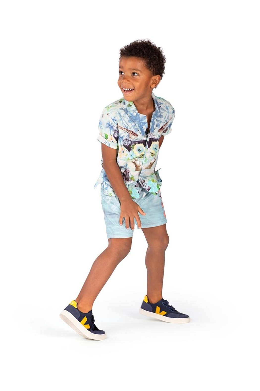 Paper Wings Tropic Short Sleeve Shirt - Side Cropped Image