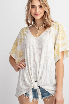 143 Story Tropical Bell Sleeve V Neck Top - Product List Image